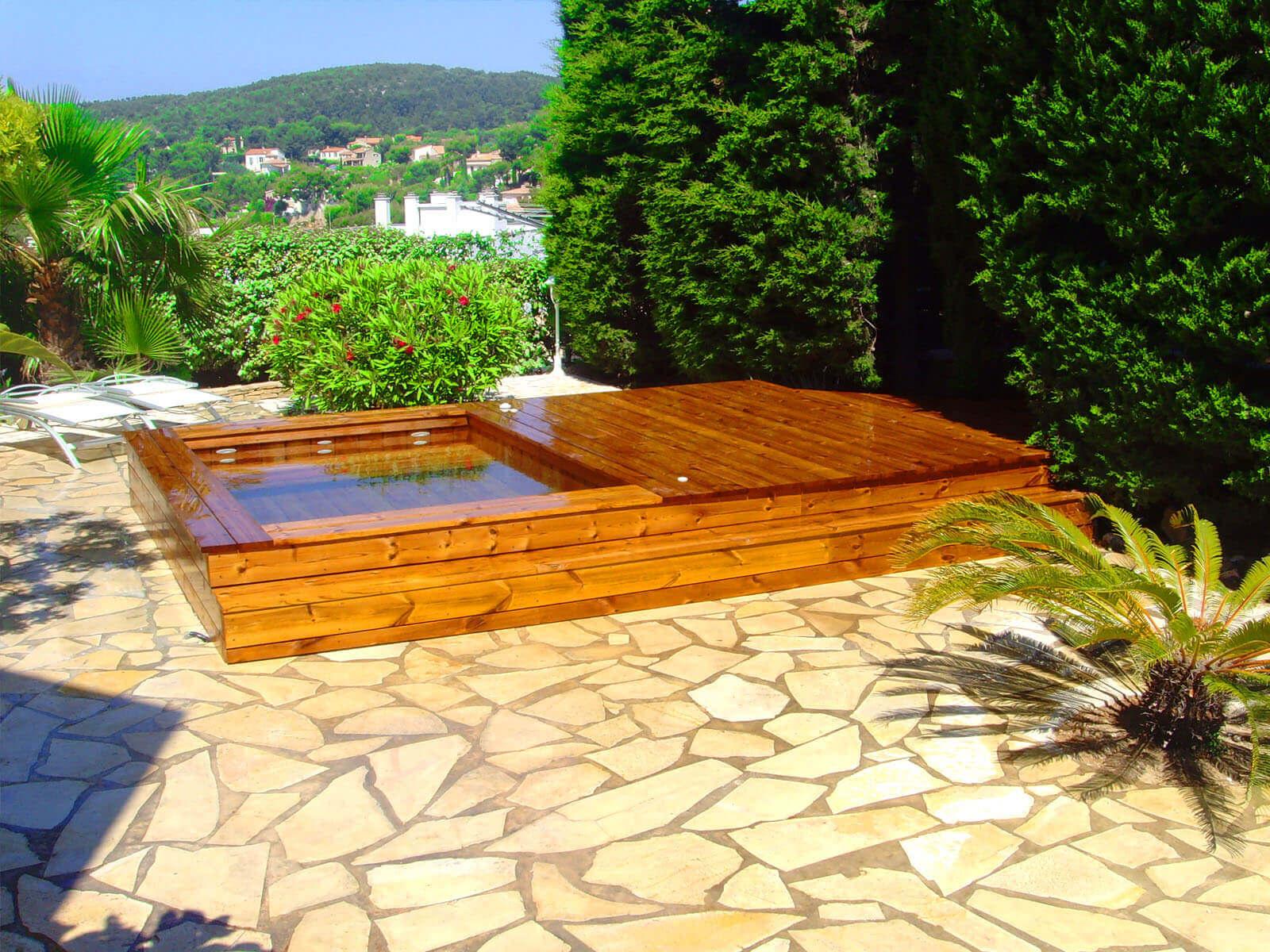 le concept de la piscine tout bois par natura piscines. Black Bedroom Furniture Sets. Home Design Ideas