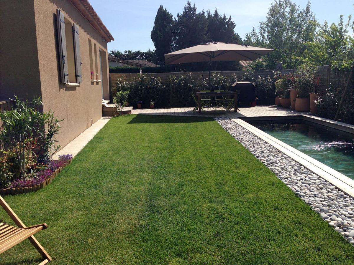 piscine couloir de nage bois - natura piscines