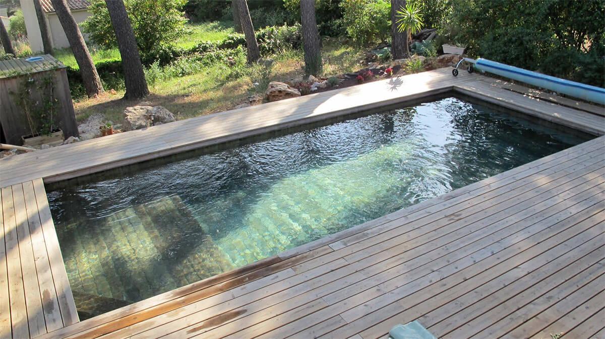 Piscine couloir de nage bois natura piscines for Installateur de piscine en bois