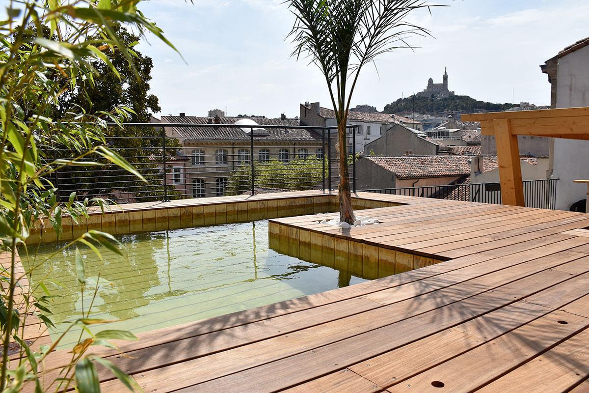 Voir Piscine Hors Sol piscine hors sol en bois sur mesure haut de gamme - natura