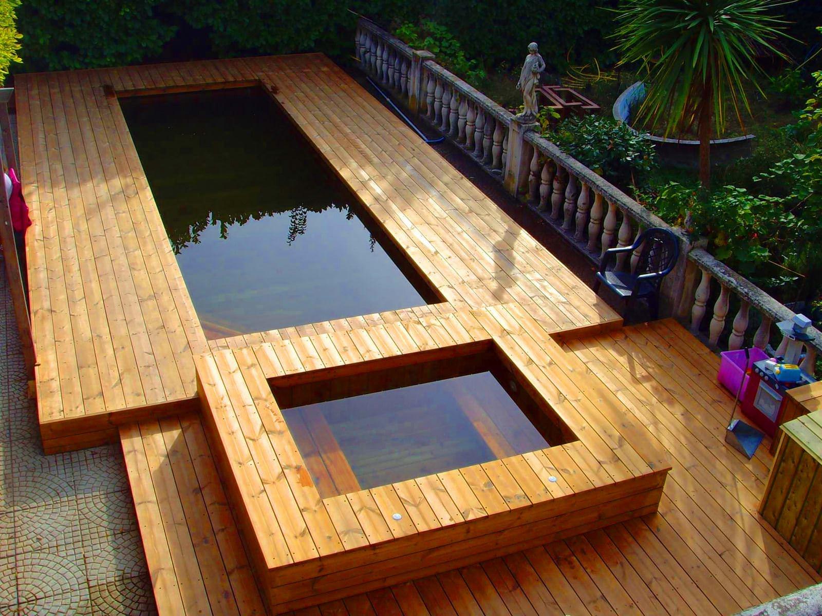 piscine semi enterr e en bois 100 sur mesure natura piscines. Black Bedroom Furniture Sets. Home Design Ideas
